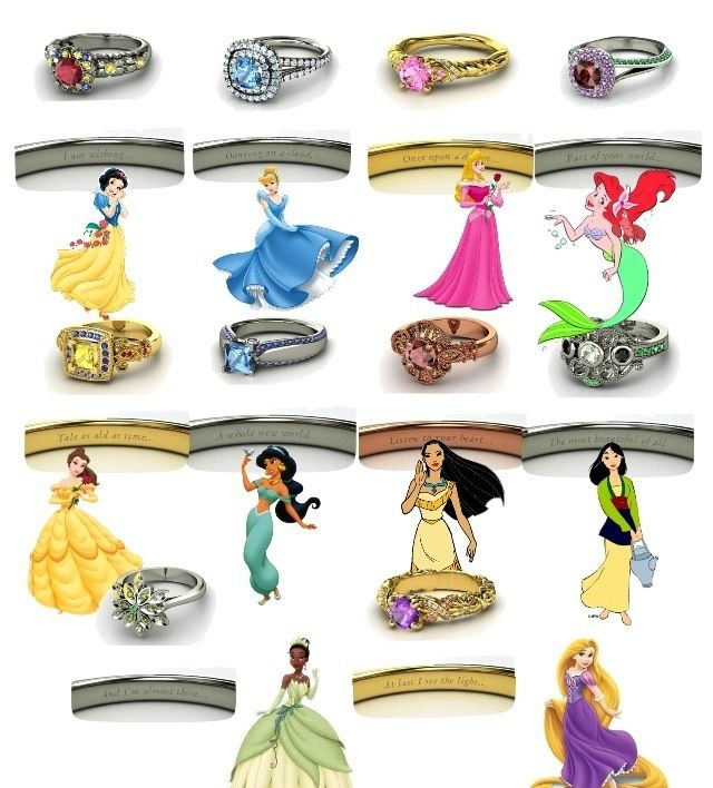 princess themed rings kinda cool rings pinterest princess ring and diamond - Disney Princess Wedding Rings