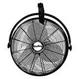 Air King 9020 1/6 HP Industrial Grade Wall Mount Fan, 20-Inch   20-Inch powder coated metal blade 3-speed, 1/6 HP, 120V, 1 phase, totally enclosed ball bearing motor Rear mounted pull cord switch and a black, 9-foot, 3-conductor SJT type power cord ETL and OSHA compliant; Tested in accordance...
