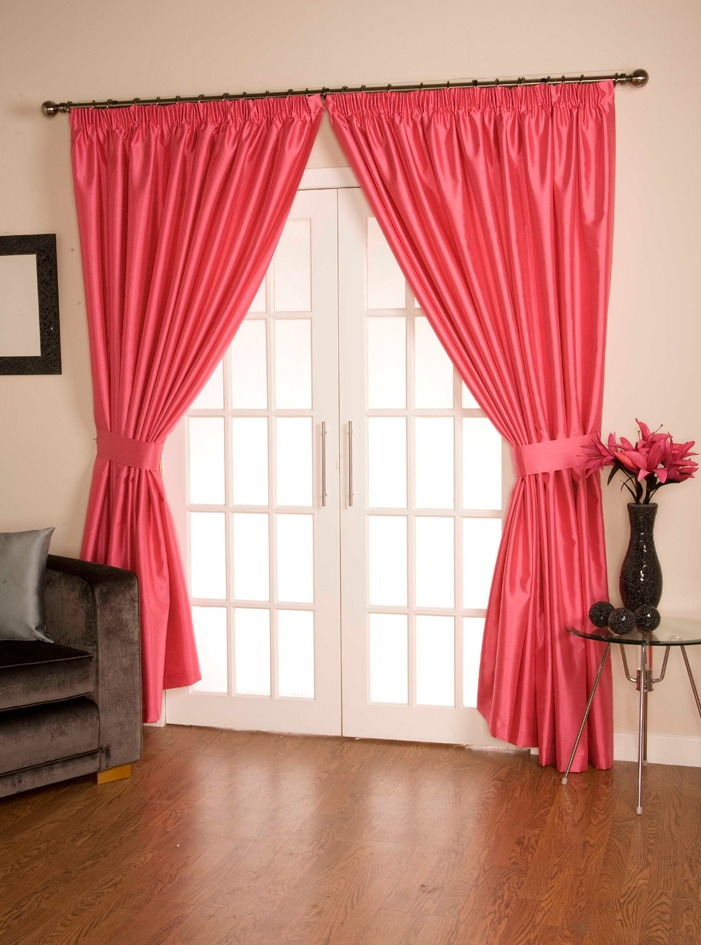 Como Hot Pink Pencil Pleat Curtains  From £23.13