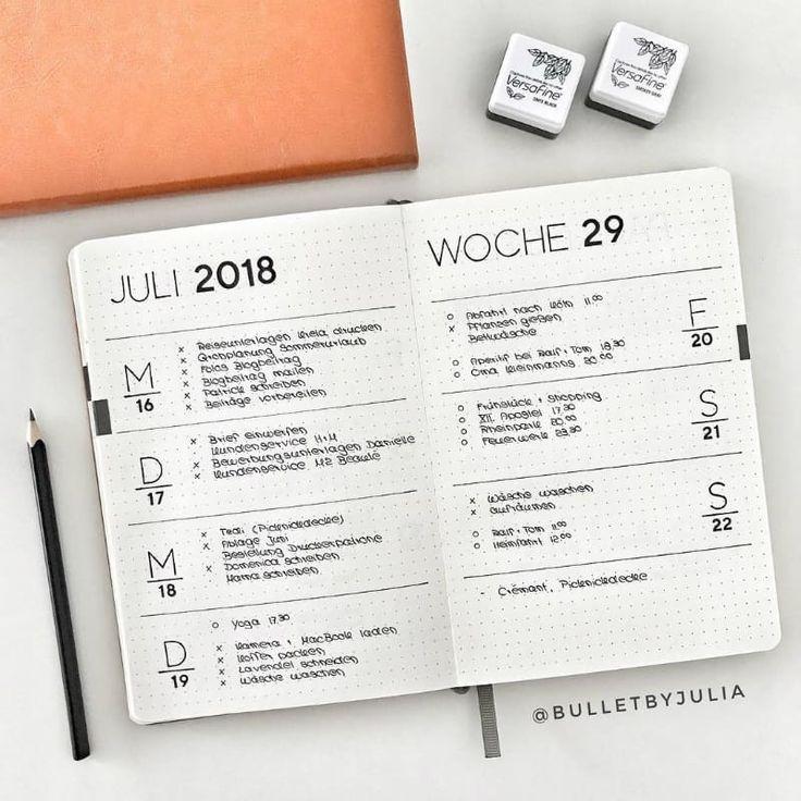 15 Stunning Minimalist Bullet Journal Spreads
