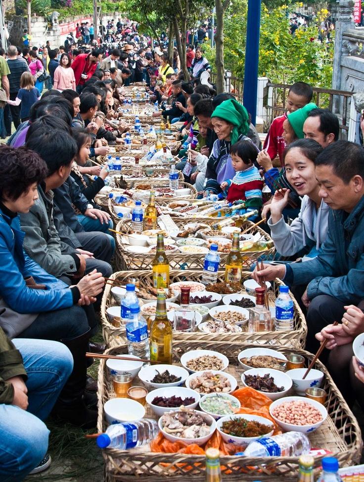 Hani Long Table Feast, Yunnan.