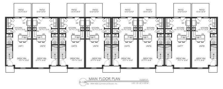8 unit apartment building plans home design for Apartment building plans 8 units