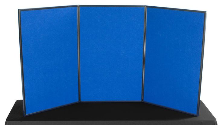 Tabletop Panel Display With Double Sided Velcro Receptive Material