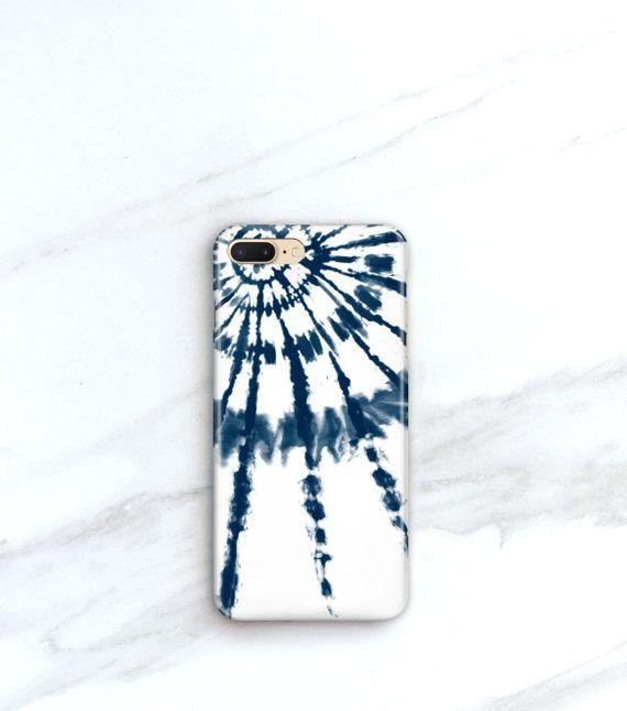 super popular a4a25 6e8f1 Boho Phone Case Indigo Tie Dye Burst iPhone 7, Plus Case Blue ...