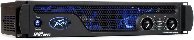 2-channel Power Amplifier, 530W RMS/ch at 4 ohms, with built in Crossovers, Speaker Protection, lightweight 7.0 lbs chassis