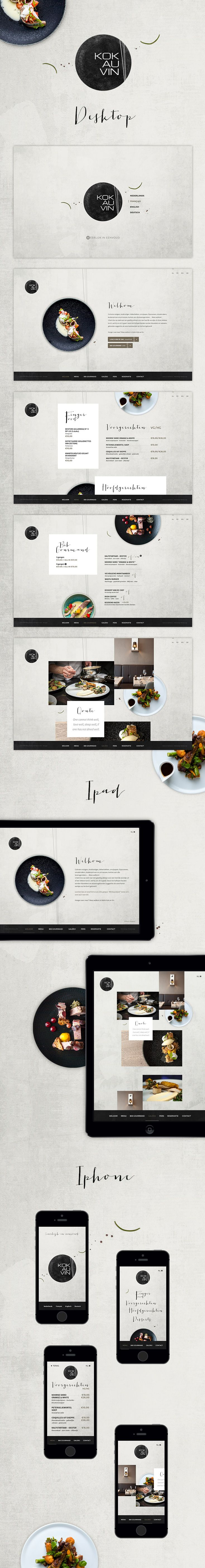 "New #website for #restaurant ""Kok au Vin"" in Bruges"