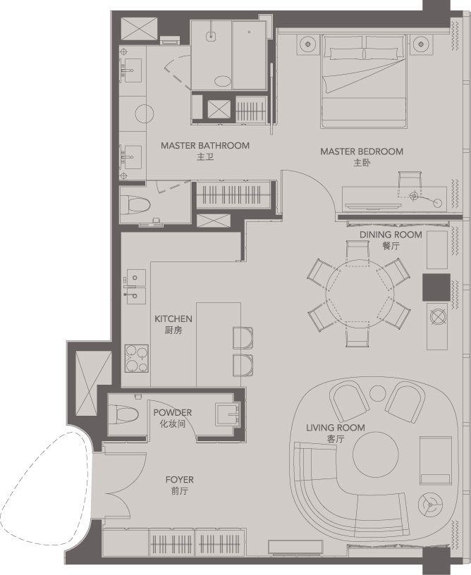 Standard Suites Unit G Four Seasons Place Pudong House