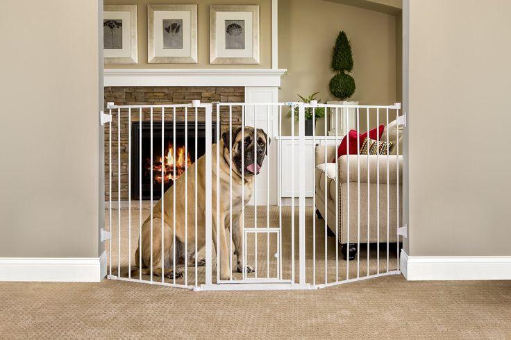 Carlson Pet Products Flexi Extra Tall Walk-Thru Gate with Pet Door $67.25