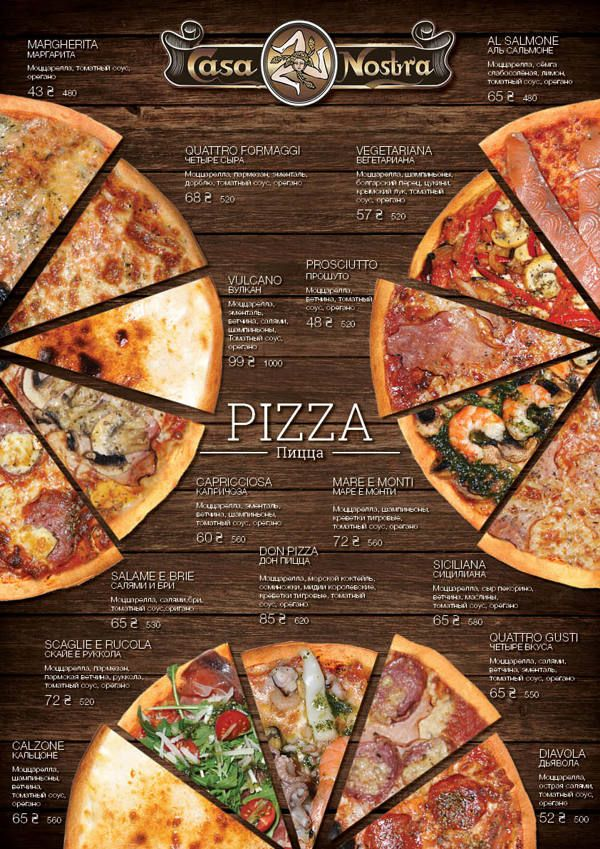 Pizza menu on Behance
