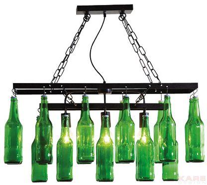 Beer Bottles Chandelier #bottiglie #birra #lampadario