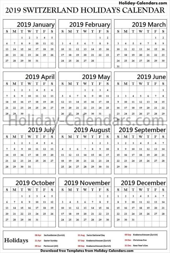 Switzerland Bank Holidays 2019 School Holidays Australia School