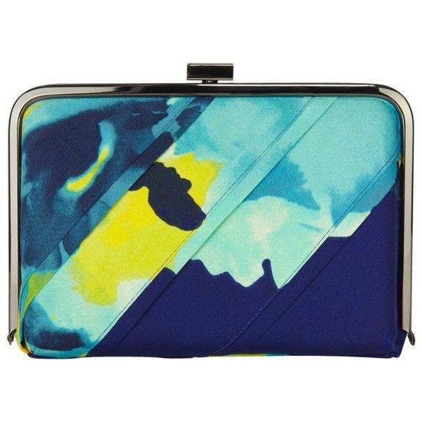 Coast Tinae Clutch Handbag, Print ($54) ❤ liked on Polyvore featuring bags, handbags, clutches, torbe, blue evening bag, evening handbags, blue handbags, imitation handbags и imitation purses