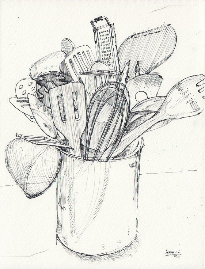 Kitchen Tools Drawings 400 best object images on pinterest | drawing ideas, pencil