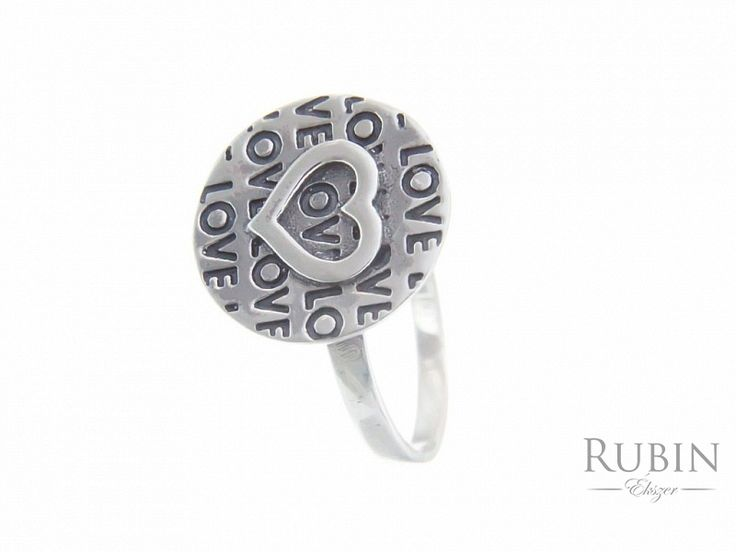 Love motívumos ezüst gyűrű