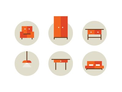 Furniture icons by Mads Burcharth