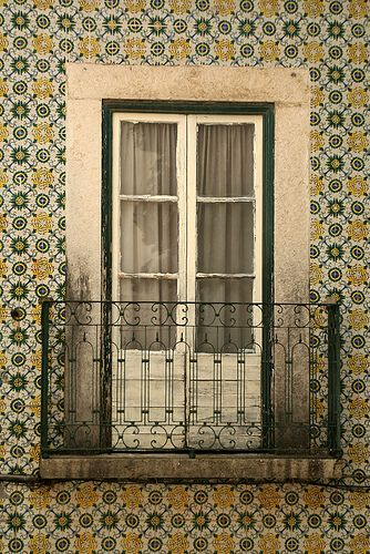 Lisbon, Portugal - beautiful exterior tile