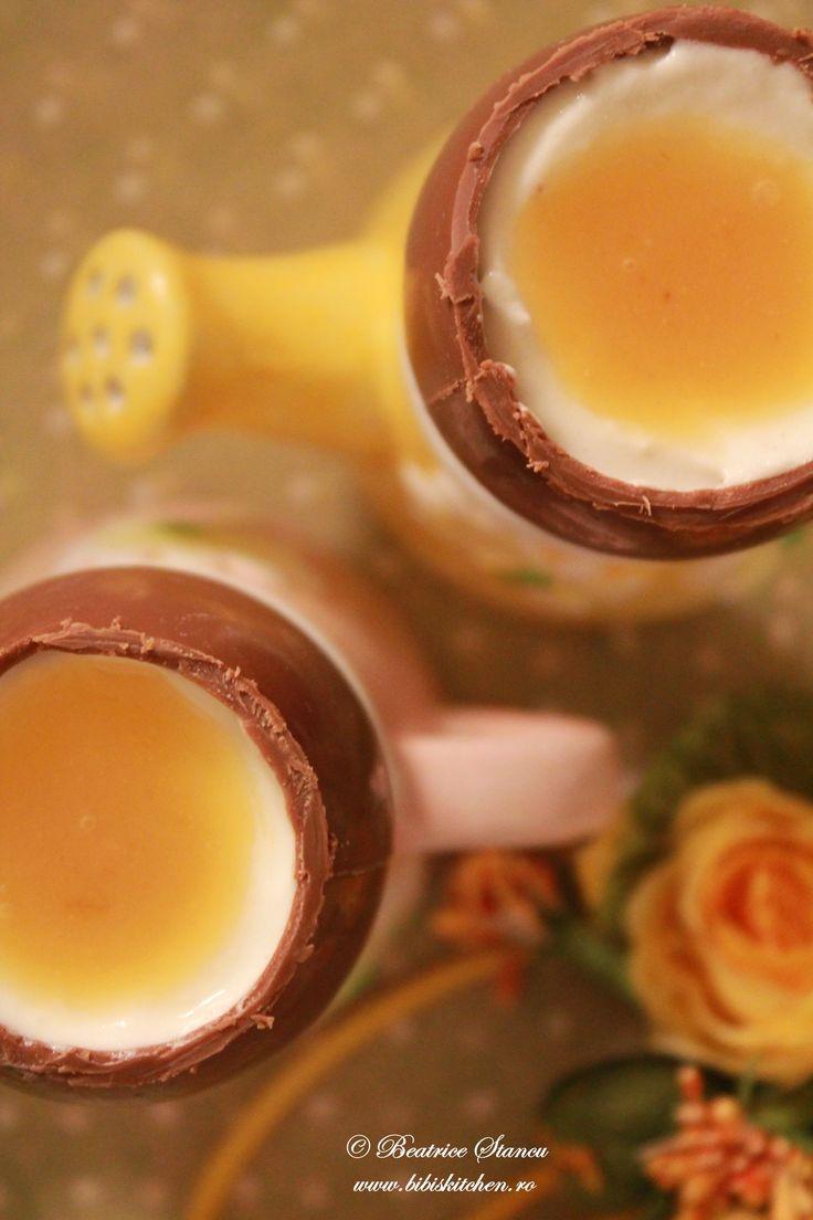 Cheesecake in oua de ciocolata | Bibi's Kitchen