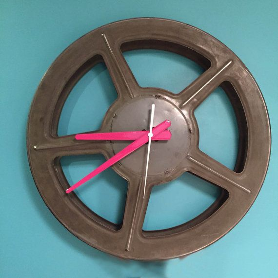 Cinema Clock by cinemaclok on Etsy