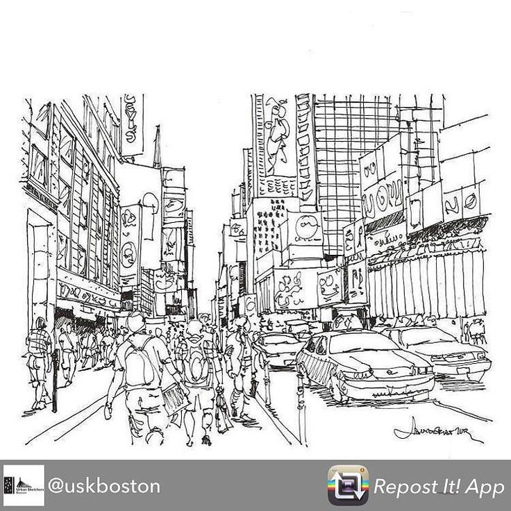 Repost from @uskboston using @RepostRegramApp - #urbansketchers #urbansketch #urbansketchersboston #nyc #ink #timessquare