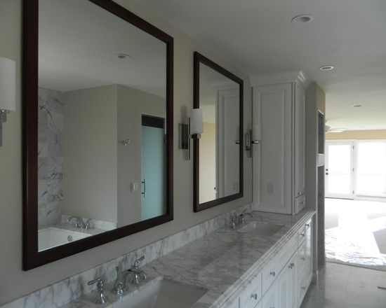 Photo On Striking Beach House Interior with Best Bathroom Lighting Gorgeous Powder Room Twin Mirrors Temple Hills