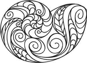Doodle Shell design (UTH3245) from UrbanThreads.com