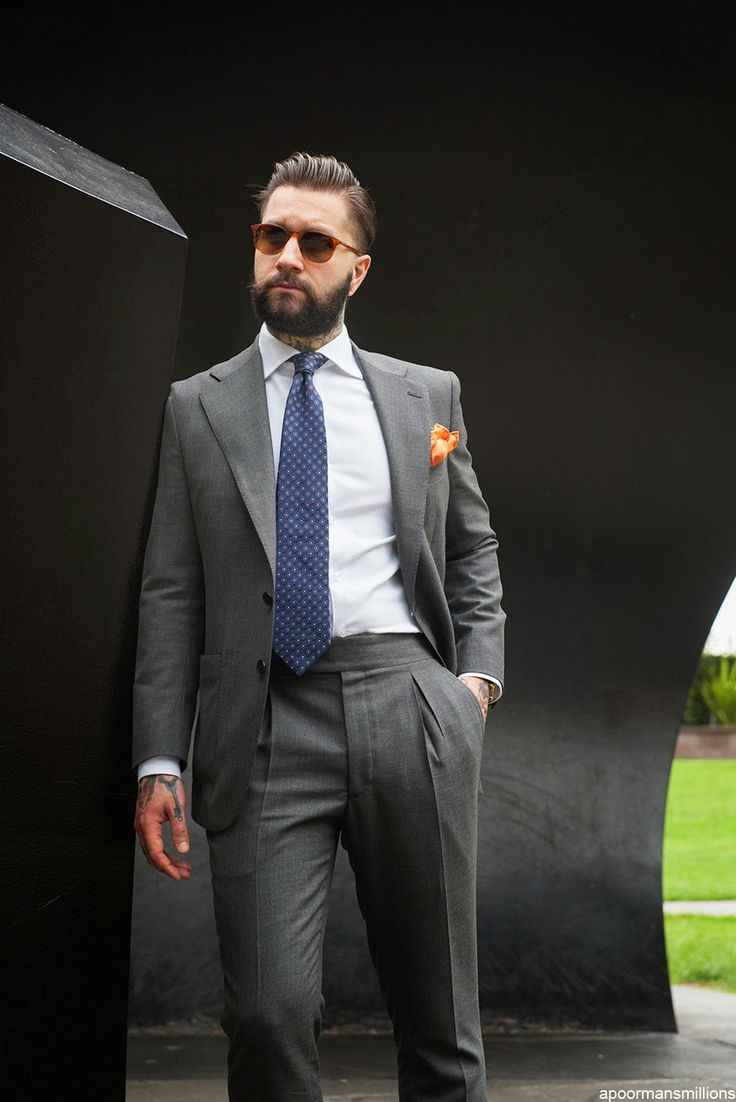 Suit and Shirt by Oscar Hunt Tailors Tie by Drakes London Pocket Square by Paolo Albizzati Sunglasses by Bailey Nelson Shoes by Loake FootwearSource