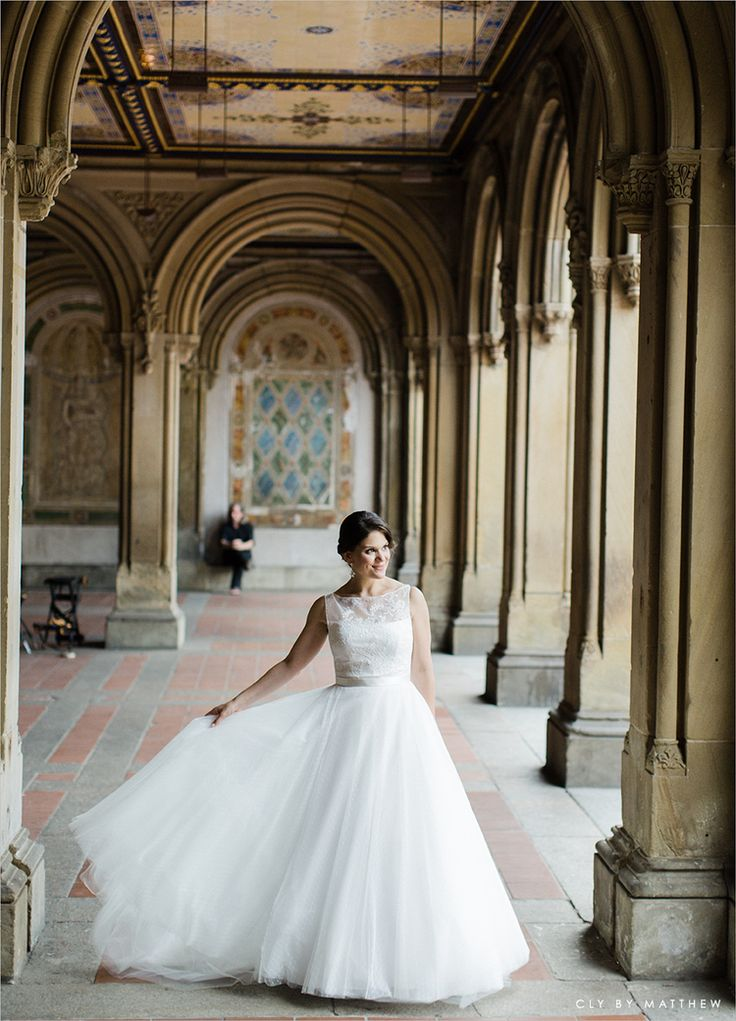 Dress Romona Keveza New York Wedding Es House Central Park