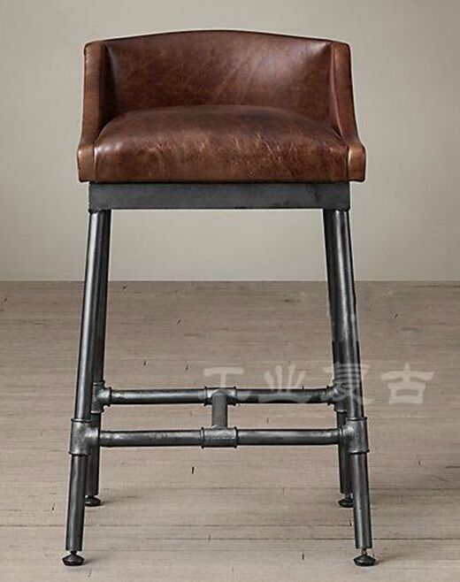 Furniture American Retro To Do The Old Wrought Iron Bar Chairs Chair Loft Hose Connector
