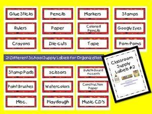 classroom organzation labes | Classroom Labels #2 Sample