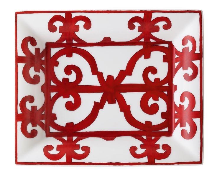 Hermes Balcon du Guadalquivir Red Change Tray