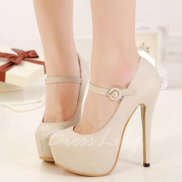 Sexy Belt and Stiletto Design Pumps For Women