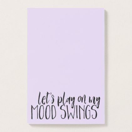 #Funny Mood Swings Desk Supplies PMS Humor Post-it Notes - #office #gifts #giftideas #business