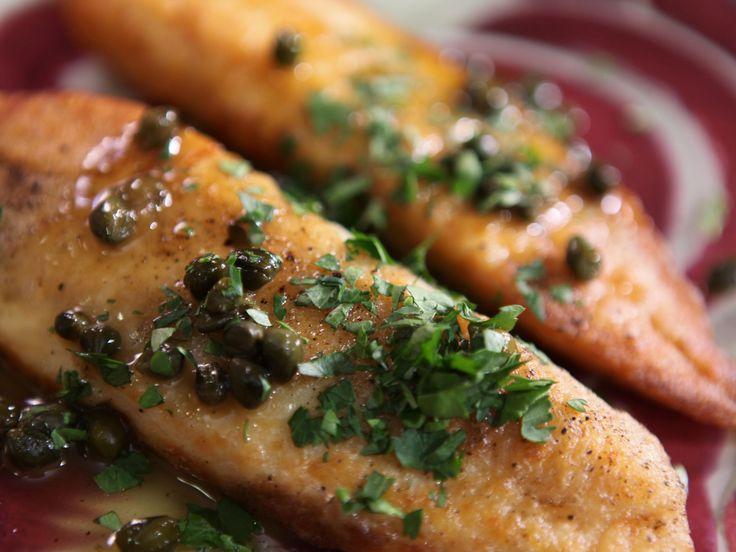 Fish Piccata #recipes from Melissa d'Arabian via Food Network