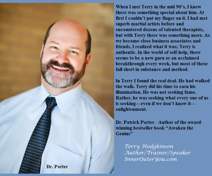 Terry Hodgkinson is regularly hired by CEO's to train their staff.  http://www.InnerOuterYou.com