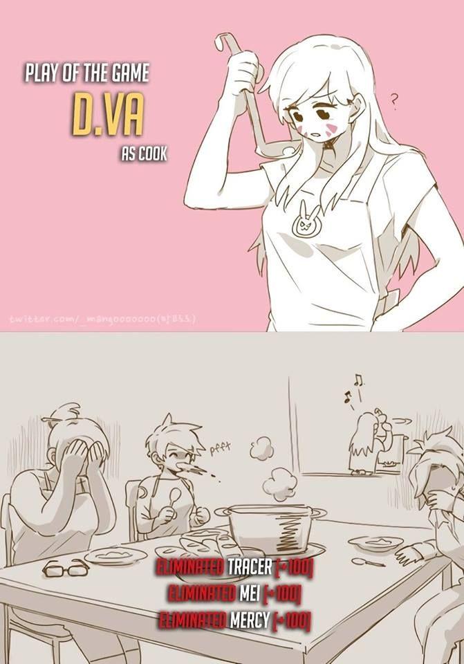 Overwatch - D.VA as a chef