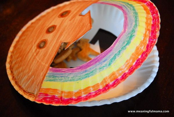 Noah 39 s ark craft teaches submissiveness paper plate for Noah and the ark crafts