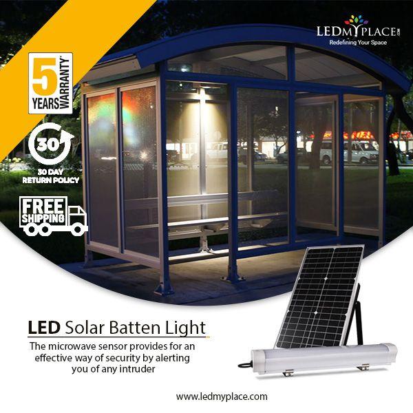 Led Solar Batten Light Set 12w With 30w Solar Panel 6000k Solar Panels Solar Solar Led