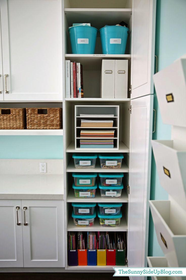 Craft closet organization ideas - Organized Craft School Supplies