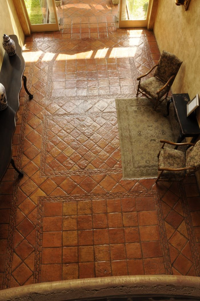 handmade mexican saltillo tile terracotta tile european and ceramic tile - Terra Cotta Tile Home 2016
