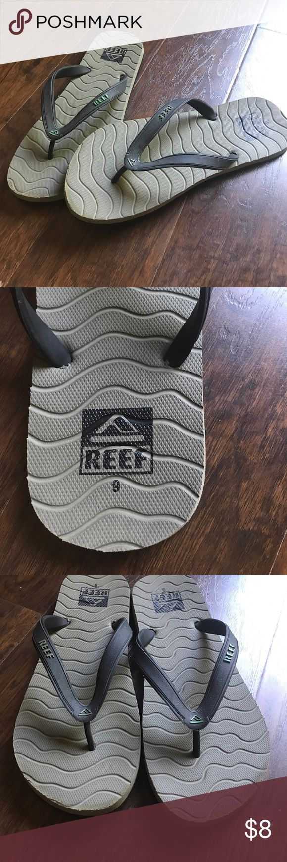 Men's Reef Flip Flops Men's Reef Flip Flops. In Great condition. Just a little worn at the toes as seen in photo 3. Still a lot of life left for this pair of comfortable Flip Flops! Reef Shoes Sandals & Flip-Flops
