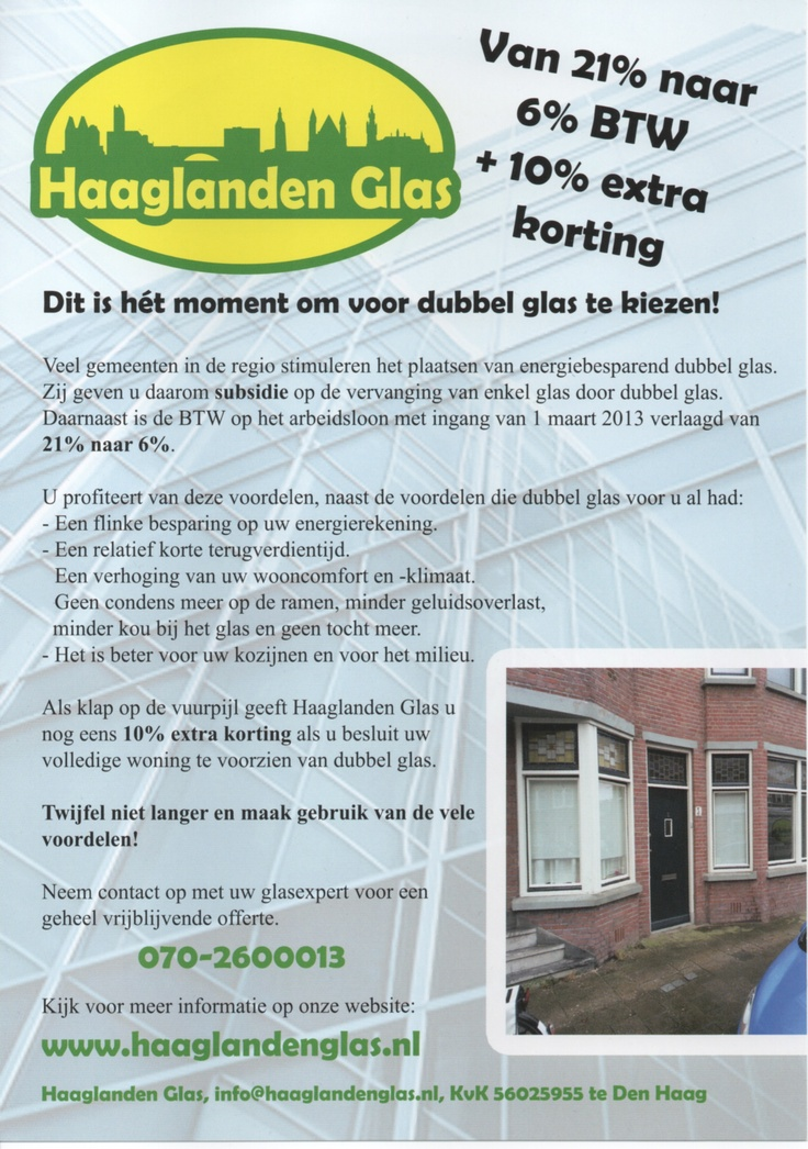 Ons jonge en dynamische bedrijf is gegroeid vanuit een jarenlange ervaring in de glashandel. Haaglanden Glas levert aan particulieren, schilders- en aannemersbedrijven in de gehele regio Haaglanden. Haaglanden Glas staat bekend om haar concurrerende prijzen, goede service en korte levertijden.
