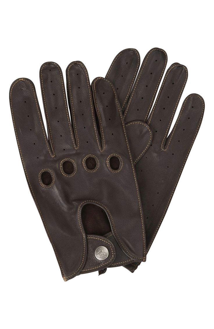 Mens leather driving gloves ireland - Men S Original Penguin Sheepskin Leather Driving Gloves