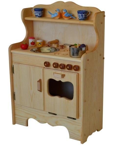 Solid Wood Toy Kitchen How To Refurbish Cabinets Elves Angels Julianna S Heirloom Kids Activities Wooden Play