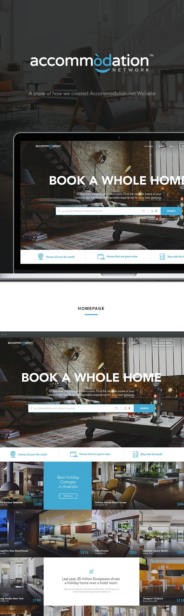 Accommodation.net Travel Booking Redesign on Behance