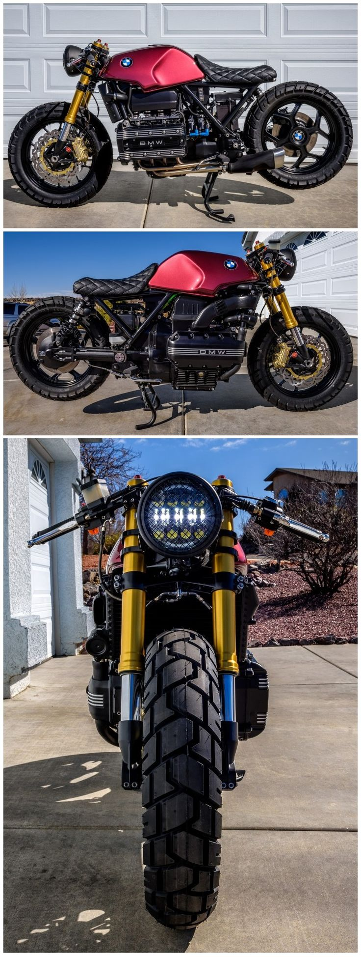 A stunning BMW K100 Cafe Racer that is for sale.  Its very rare that you see a K100 looking this good.