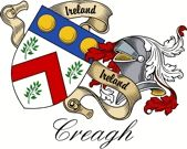 Creagh Irish Coat of Arms    This is an Irish Sept Coat of arms. This will not be the design you will receive if you order any of our produc...