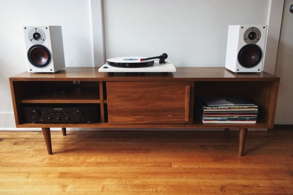 Kasse TV Stand With Sliding Doors  custom for Anne by STORnewyork