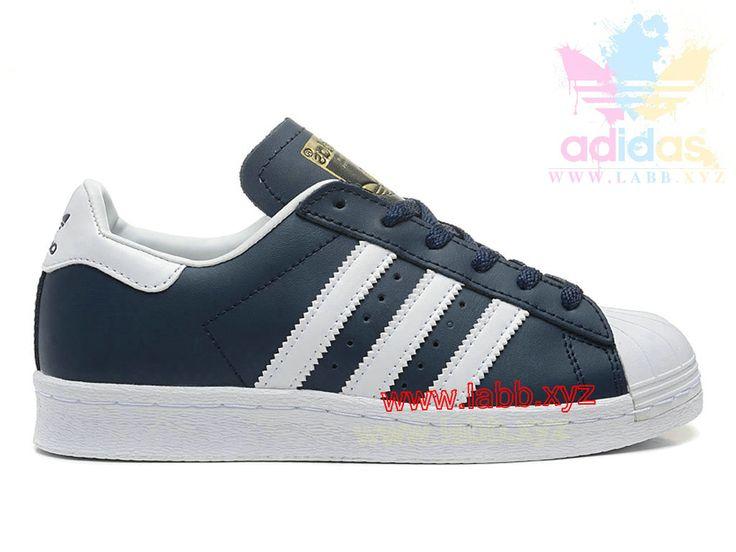 Adidas Originals Homme/Femme Superstar 80´s DLX Deep Blue/Blanc G61070  adidas