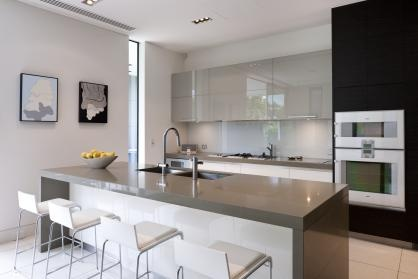 Option of the kitchen cabinet colours, warm grey, I like the glossy finish.