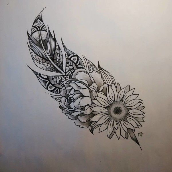 bonus feathers and flowers and all the pretty things 31 of the prettiest - Tattoo Idea Designs